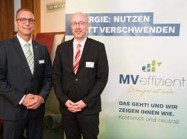 Gunnar Wobig, GF Leka und Christian Pegel, Energieminister MV im Gespräch