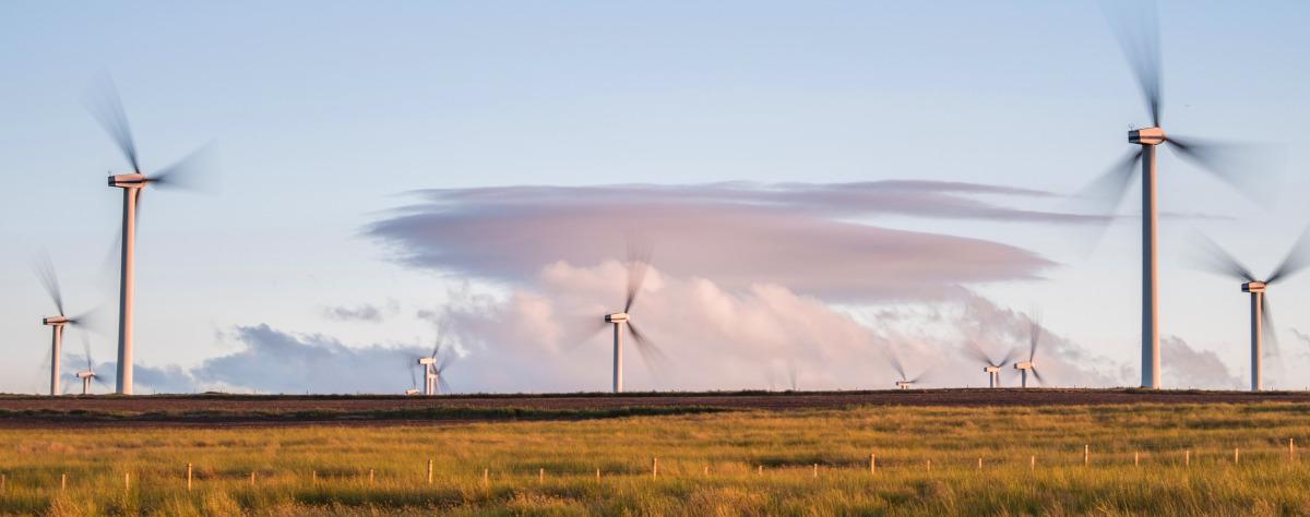 Windenergieanlagen auf einem Feld