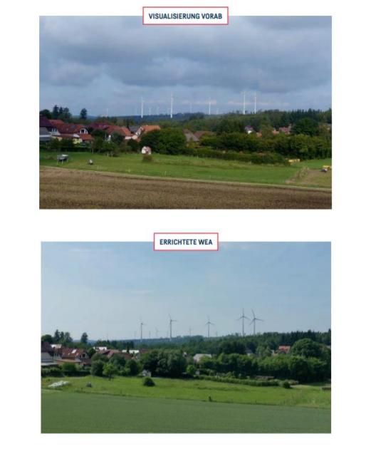 © LEKA MV | Leitfaden Gute fachliche Praxis für die Visualisierung von Windenergieanlagen Beispielfoto