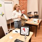 LEKA-Kollegin Carla Weisse auf einer Veranstaltung