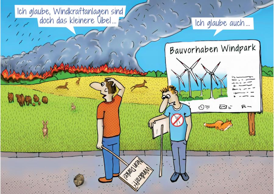 """Citycard """"Klimaschutz durch Windenergieanlagen"""""""