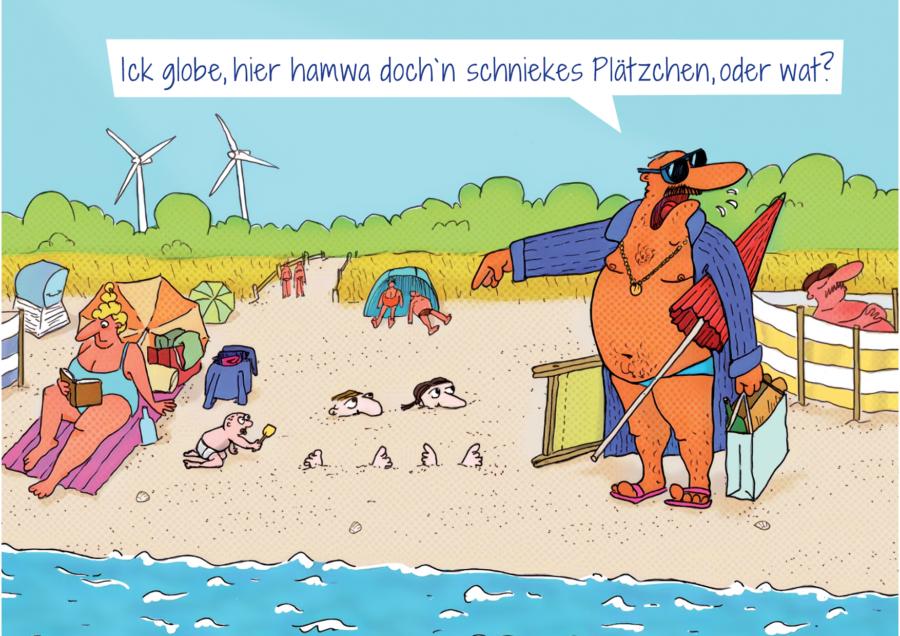 """Citycard """"Urlaubsregion mit erneuerbaren Energien"""""""